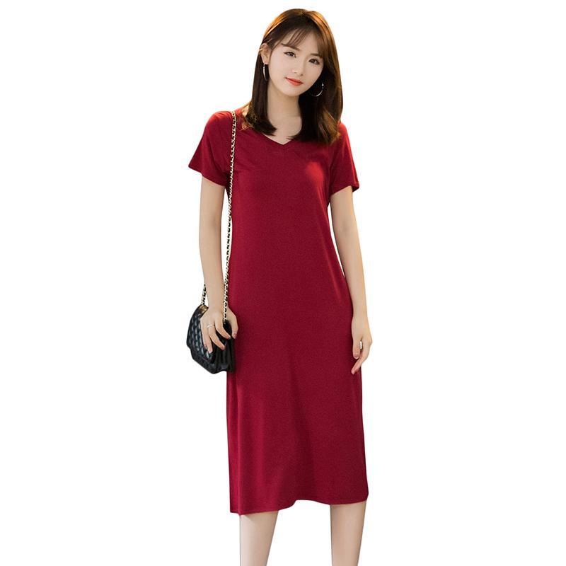 Vestidos de manga corta para senora