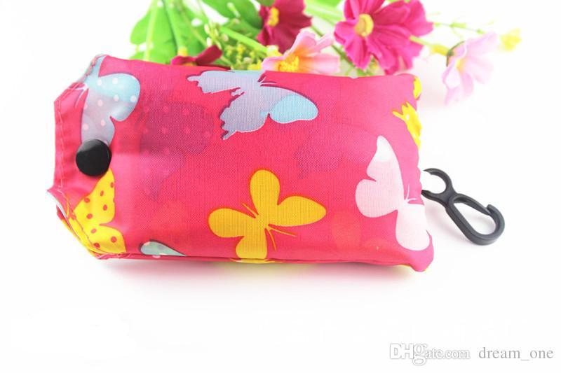Корзины сумки брелок многоразовые Эко складной мешок хозяйственная сумка новые дамы брелок Бесплатная доставка CM132