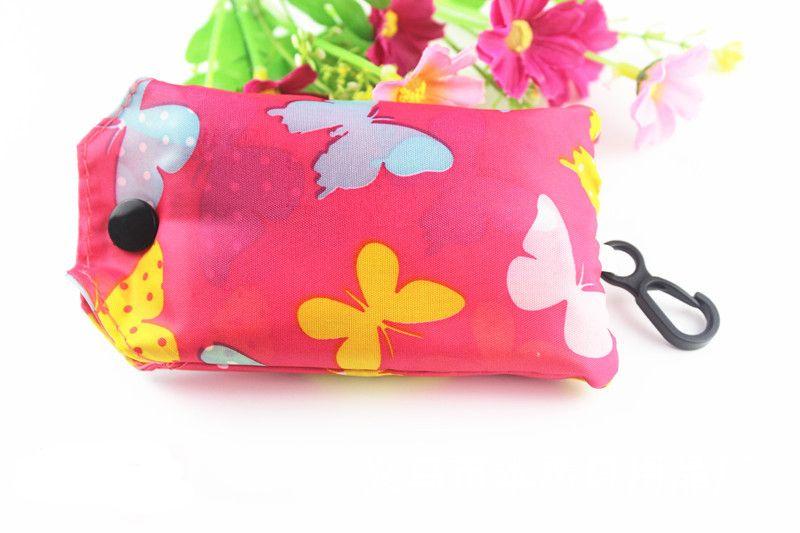 Reciclar sacos Chaveiro Eco Reutilizável Saco Dobrável Saco de Compras Nova Senhoras chaveiro Frete Grátis CM132