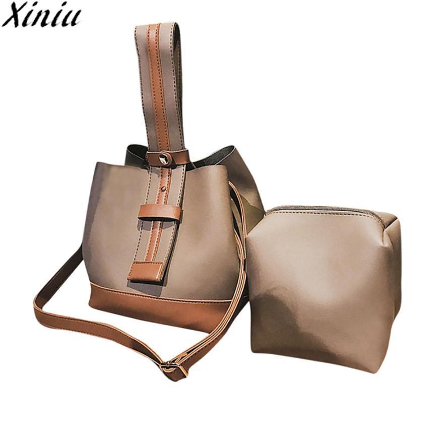 XINIU Fashion Bag Women Two Set Handbag Ladies Leather Shoulder Bag ... f92b4a2ebbd7f