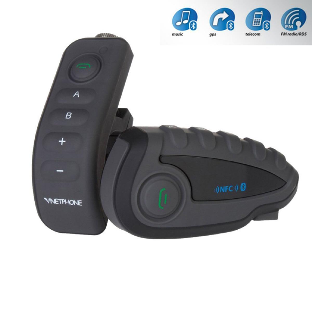 VNETPHONE V8 1200M Motorcycle Helmet Bluetooth Headphone Intercom FM ...