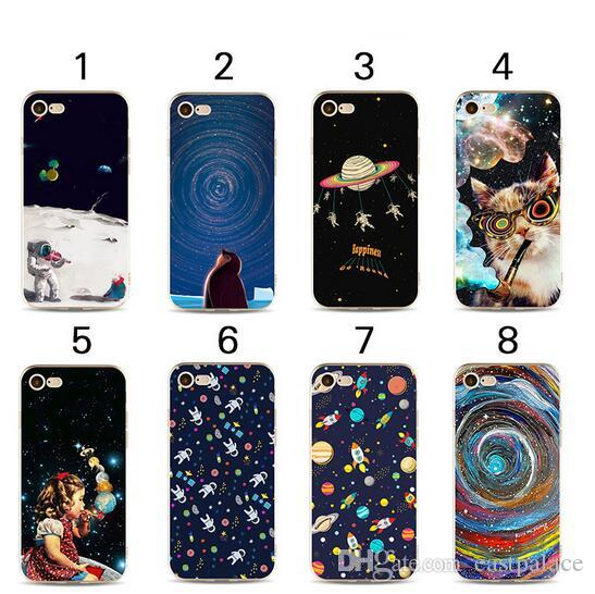 3D Cartoon Outer Space Soft tpu Painted Case for iPhone X XS MAX XR 8 7 6 6s plus 5 5s se 5c Star Cute Kawaii Phone Shell Cover