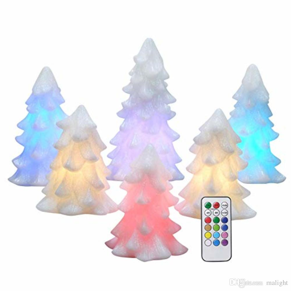 flameless flickering candles christmas tree set of 6 ivory decoration lights christmas tree electric candles chandelle wedding decoration led candle