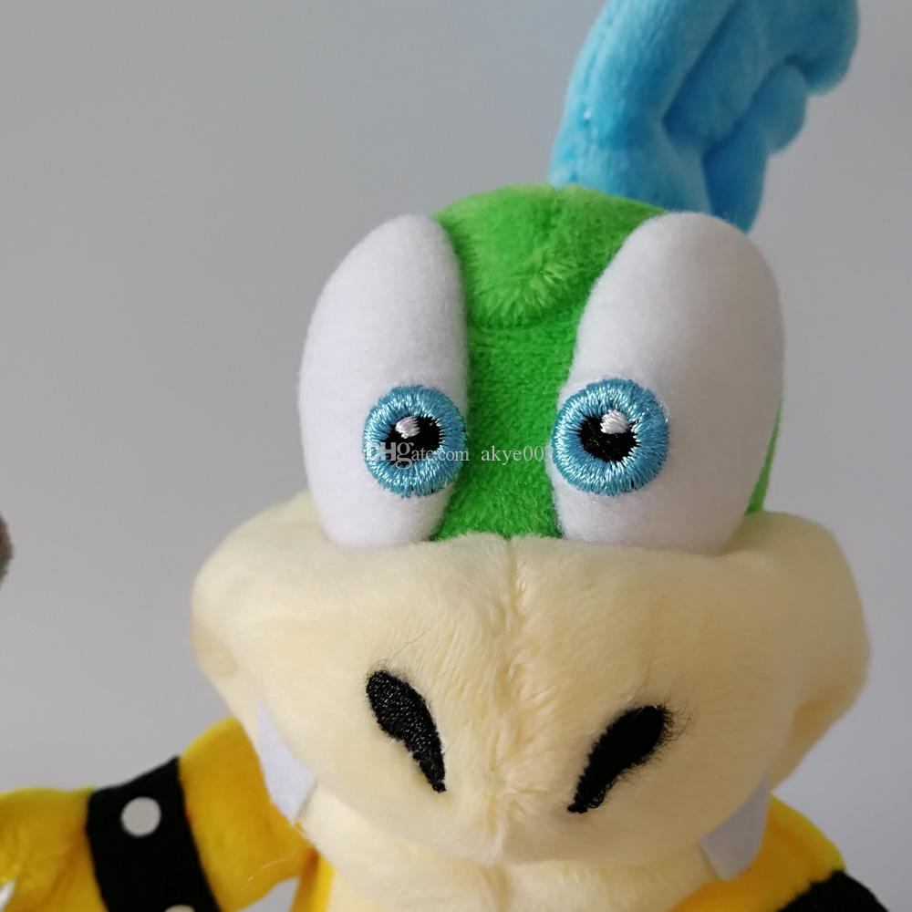 "Hot Sale 8"" 20CM Super Mario Bros Koopalings Larry Koopa Plush Toy Stuffed Dolls Kids Gift"