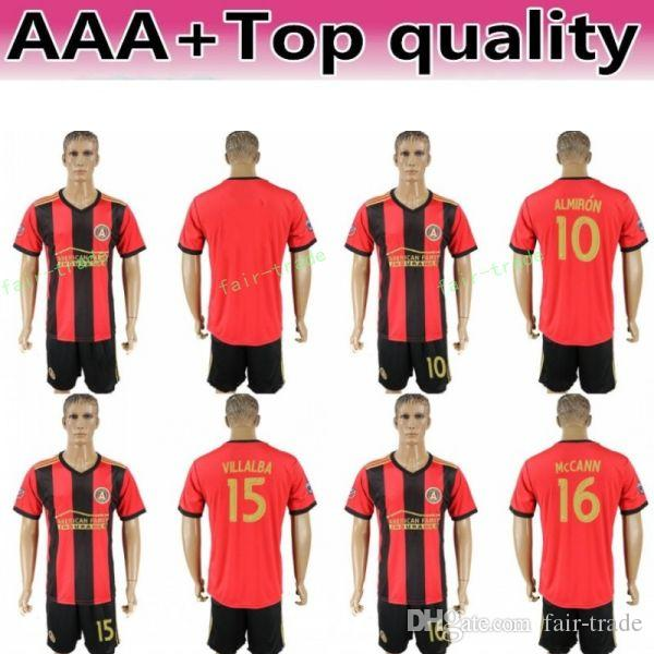 best website 800c1 a60c7 FC Atlanta United Soccer 8 Ezequiel Barco Jersey Men 15 Hector Villalba 24  Julian Gressel Football Shirt Kits Team Red Thai Quality