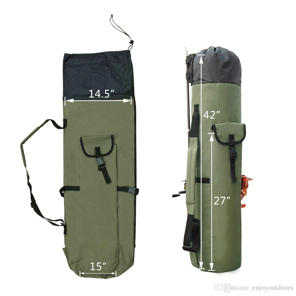 Wholesale Fishing Accessories New Arrivel Portable Multifunction Nylon Fishing Rod Bag Case Fishing Tackle Tools Storage Bag