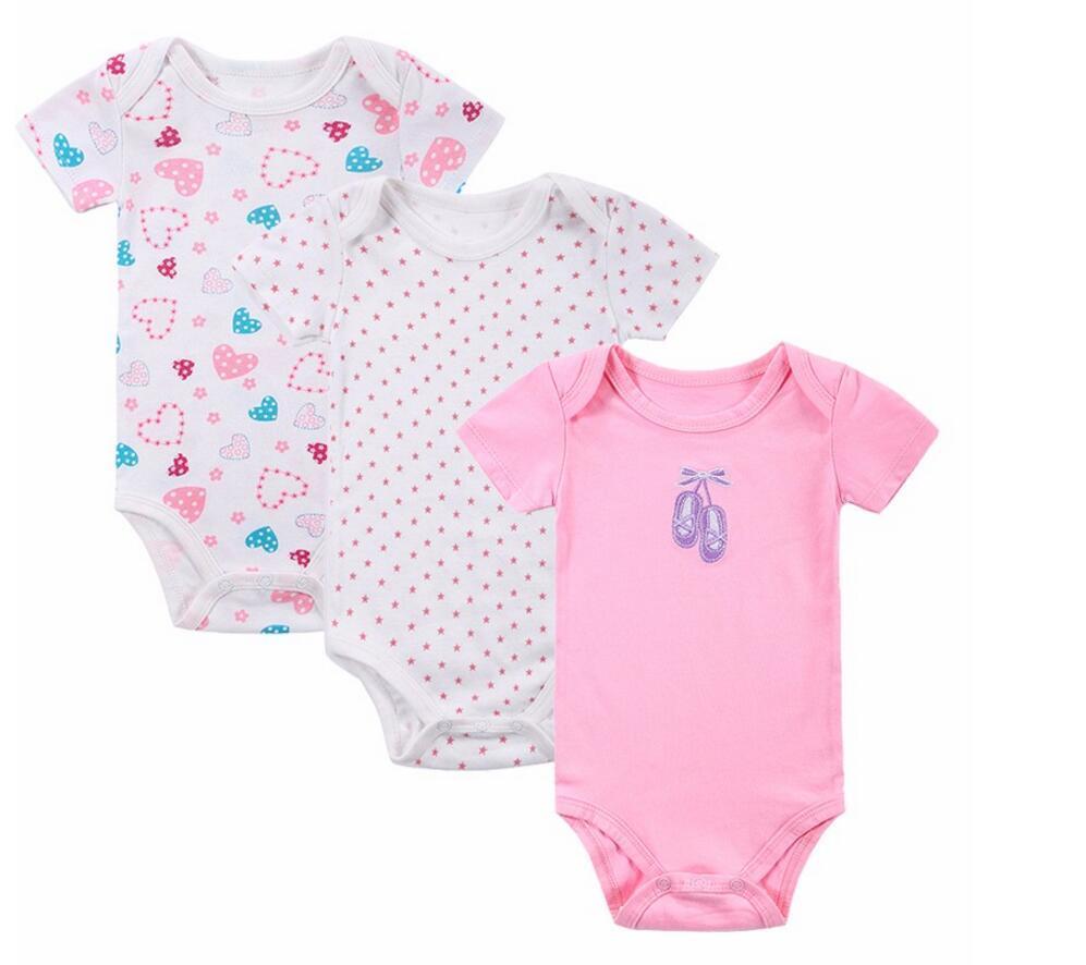 8a2e8e6fe 2019 100% Cotton Baby Bodysuit Newborn Cotton Body Baby Short Sleeve ...