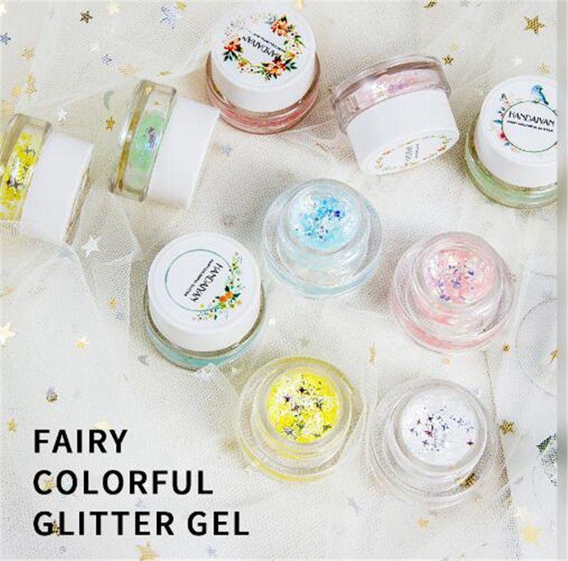 HANDAIYAN Shine Shimmer Eyeshadow Gel Makeup Glitte body art glitter gel face eye tattoo powder DHL