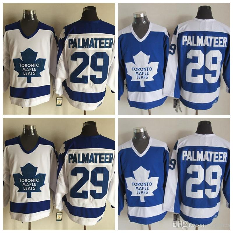 size 40 68def 405b3 Mens Toronto Maple Leafs Vintage Mike Palmateer Hockey Jerseys Cheap #29  Mike Palmateer Stitched Shirts M-XXXL