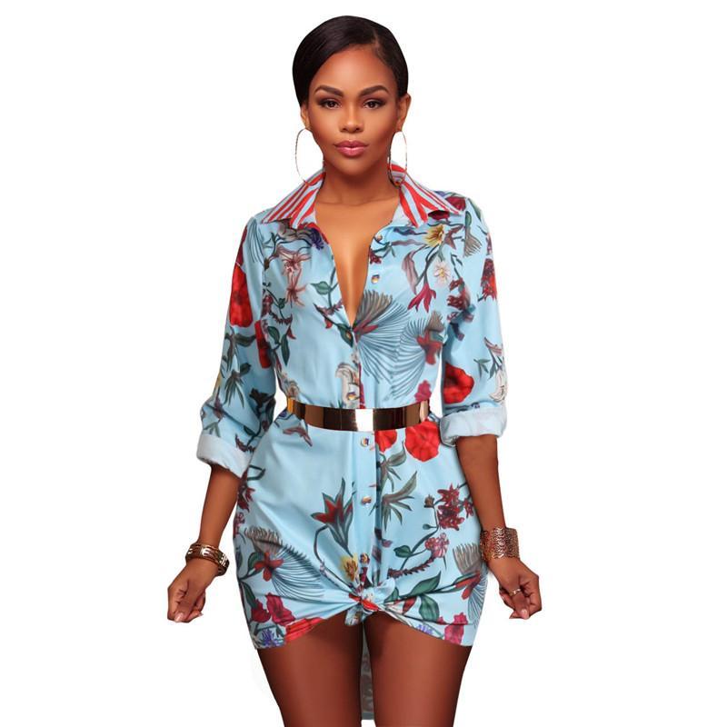 Лето в стиле ретро с длинным рукавом Мини платья Женщины Классического ретро Блуза партия пляж вскользь платье черного S-XL