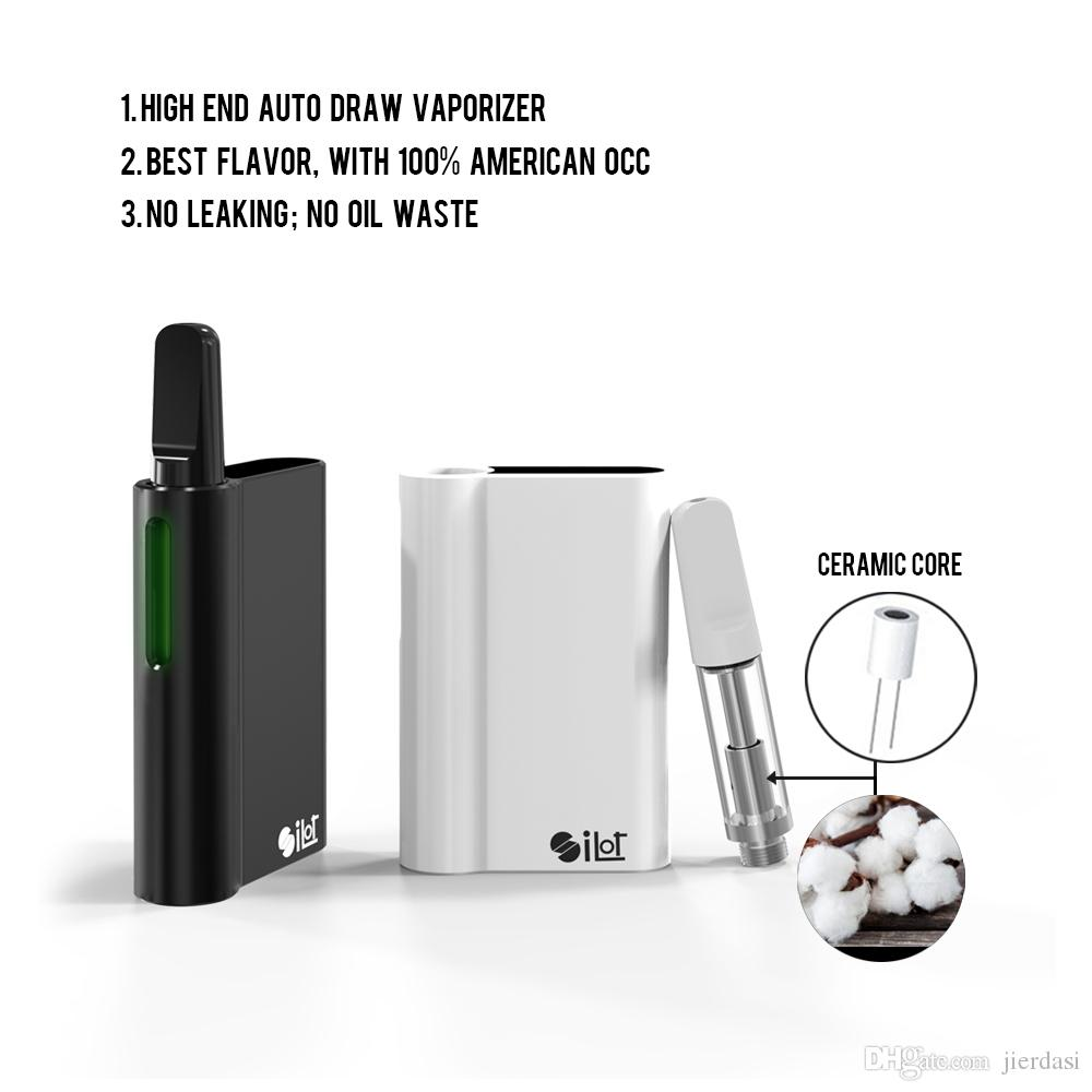 New vape Silot kit 510 Battery mod vaporizer 380mah Ceramic coils smoking Starter auto vape pen O Pen Original