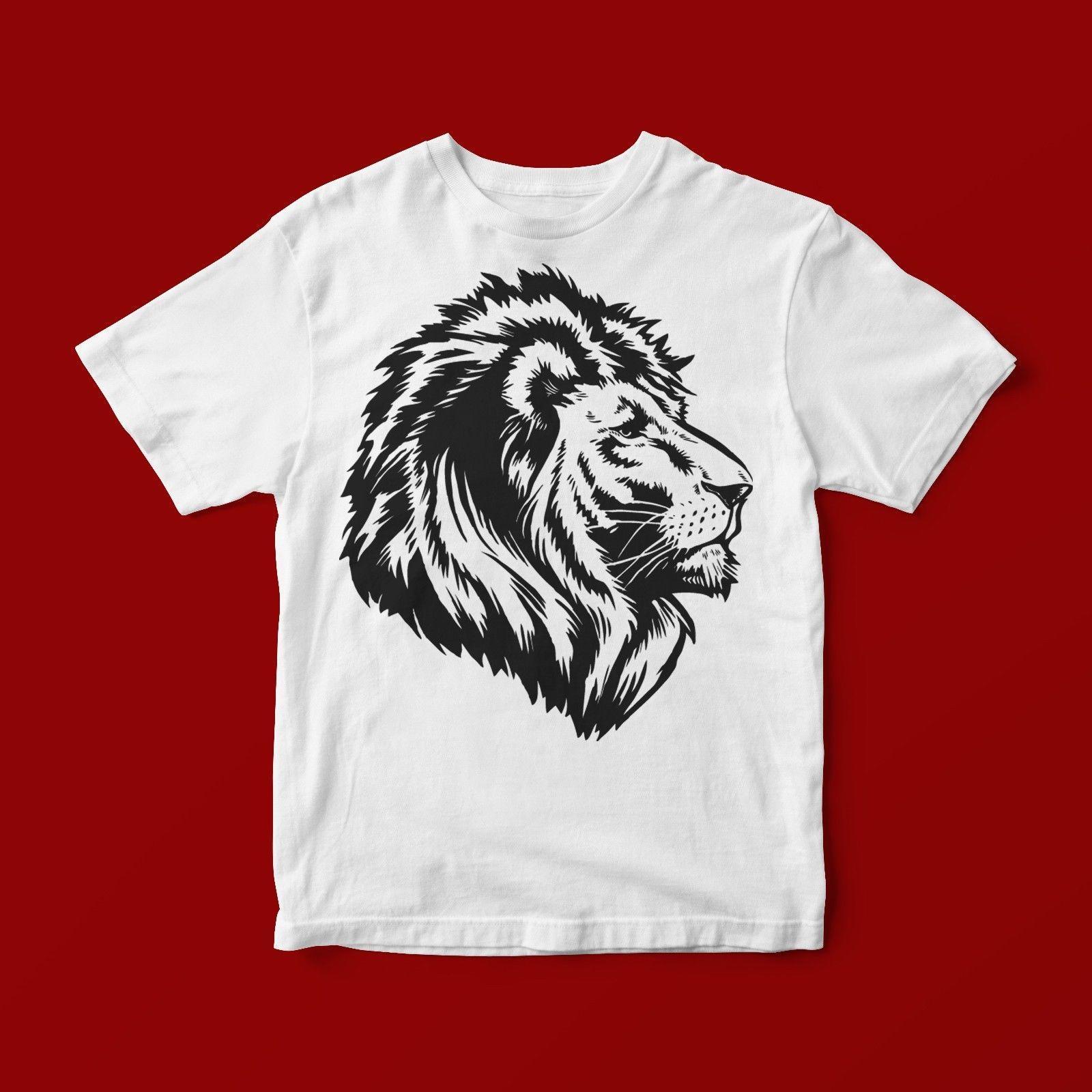 Lion Art T Shirt Unisex 265 Fashion Mens Short Sleeve Cheap Sale O