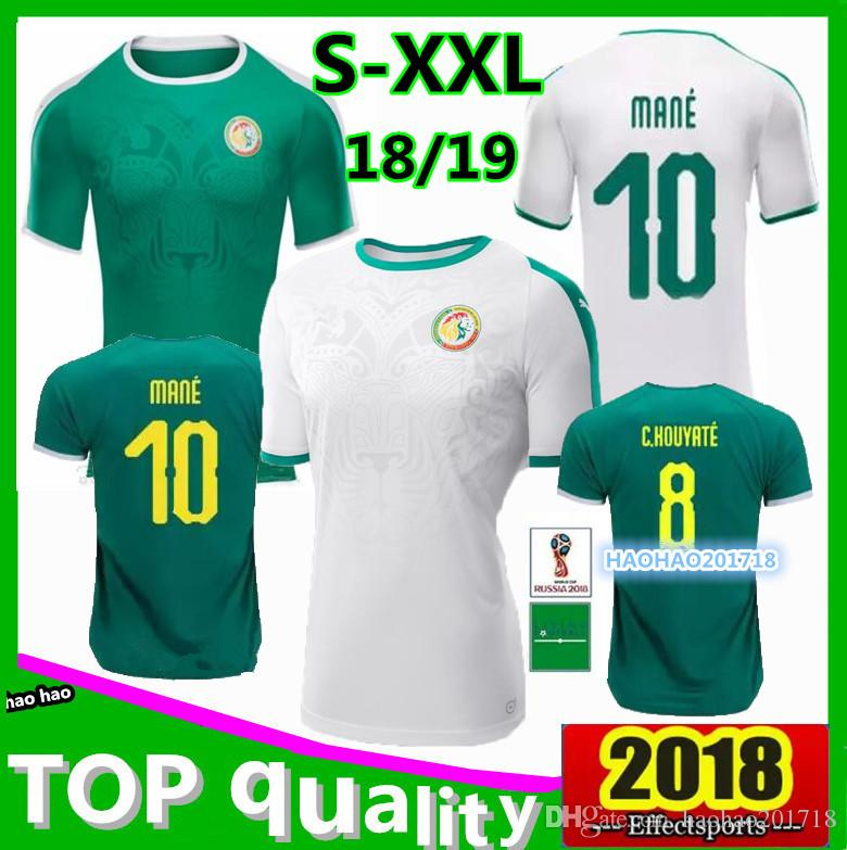 1765fe186 Top Thai Quality 2018 2019 Senegal World Cup Soccer Jersey Home ...