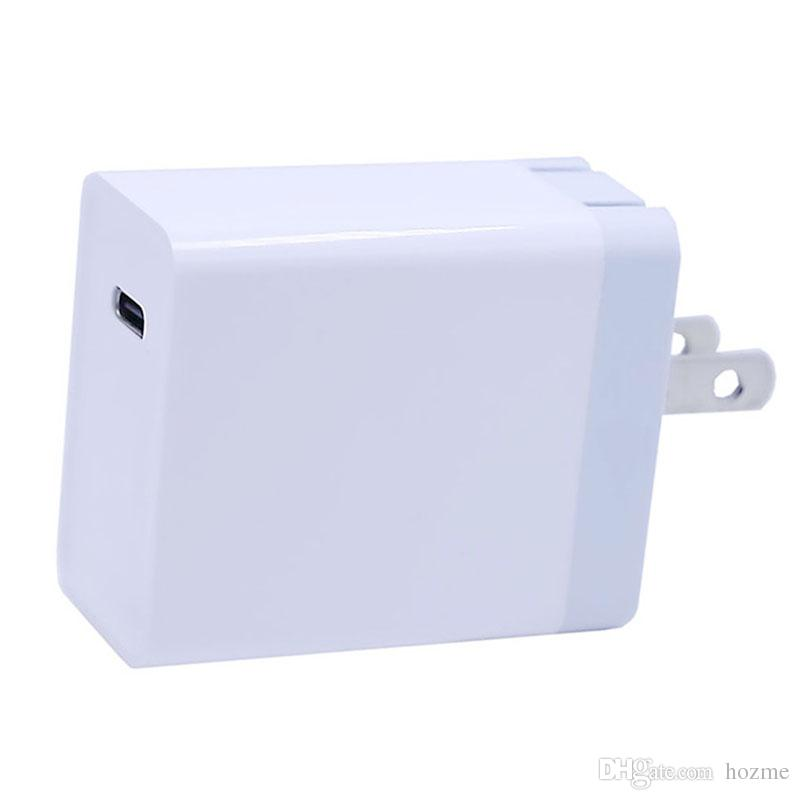 18W One Type C Port PD Power Adapter USB Charger Wall Charger Station