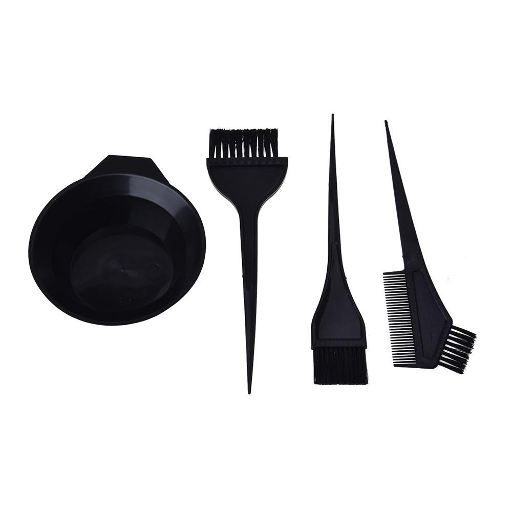 Hair Coloring Mixing Bowl With 3 Brushes Plastic Hairdressing Tools ...