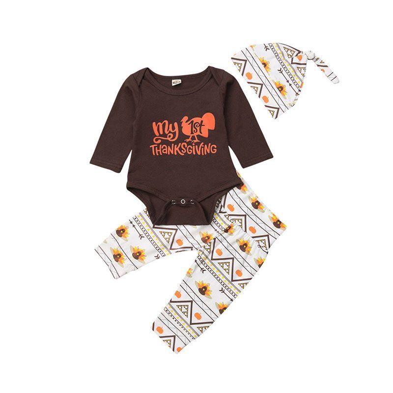 b2120d85b15d 2019 2018 Thanksgiving Newborn Clothes Suit Baby Boys Girls Turkey ...