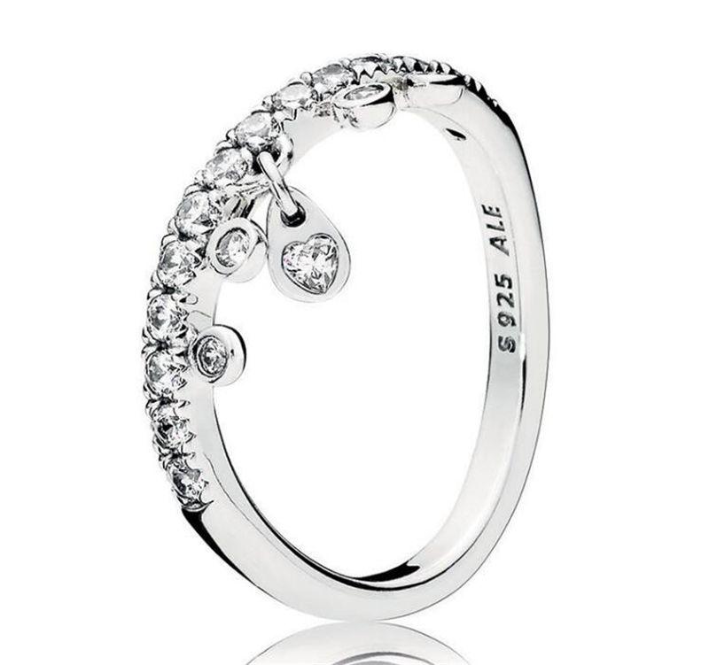925 Sterling Silver Rings Pandora Engagement Wedding Rings Set For