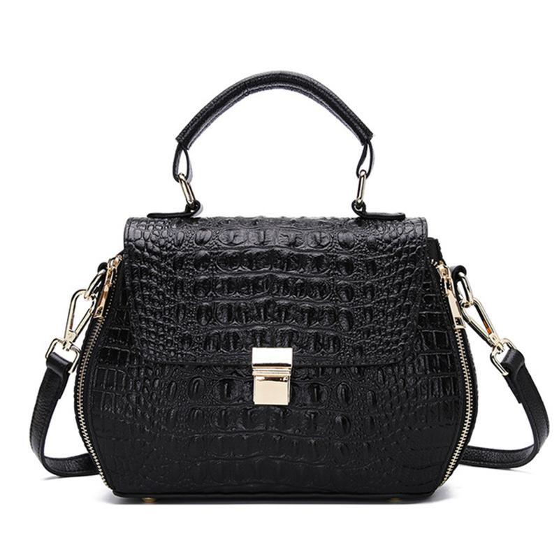 f5cdf7a00f Crocodile Pattern Women Bag Cowhide Leather Women Handbag Top Shop Hot Sales  Tote Bag Shoulder Large Brand Bags Luxury Purse Leather Purse Womens Purses  ...