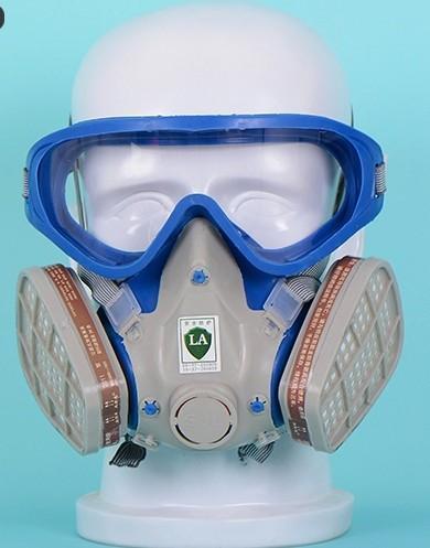 Freeshipping nouveau style costume respirateurs peinture Masque visage Spraying gaz avec lunettes de peinture lunettes