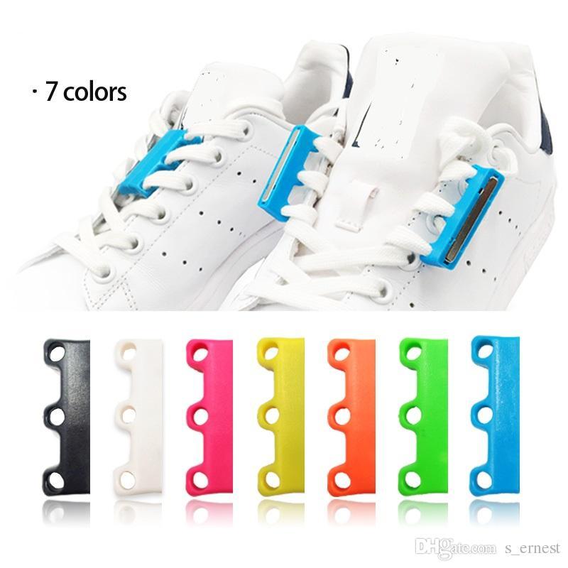 Lacet Farbe Magnetic Zu Nein Schnürsenkel Schnalle 6 Verschlüsse Paar Shoelaces Binden Faul 1 Chaussure 4A3j5RqL