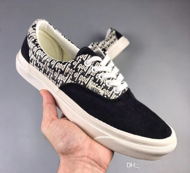 1782173489 2019 FEAR OF GOD X Era 95 Reissue Canvas Shoes VisVim Fashion Sneakers  Canvas Vetements Casual Shoes From Cwssrs1991