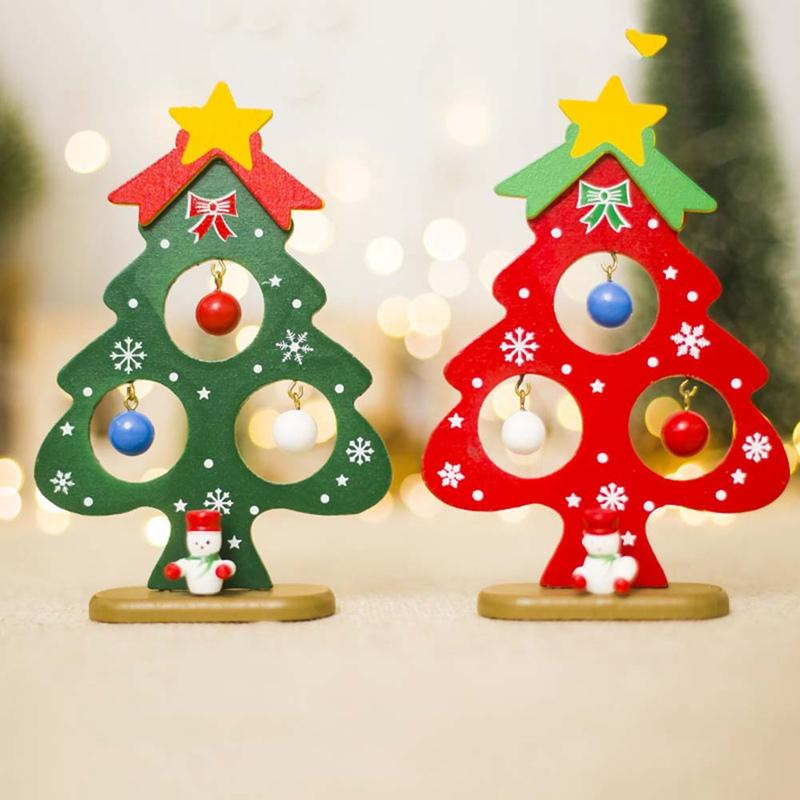 christmas tree small ornament mini painted christmas tree decorations wooden card new years decorations for home decoration for xmas decoration items for