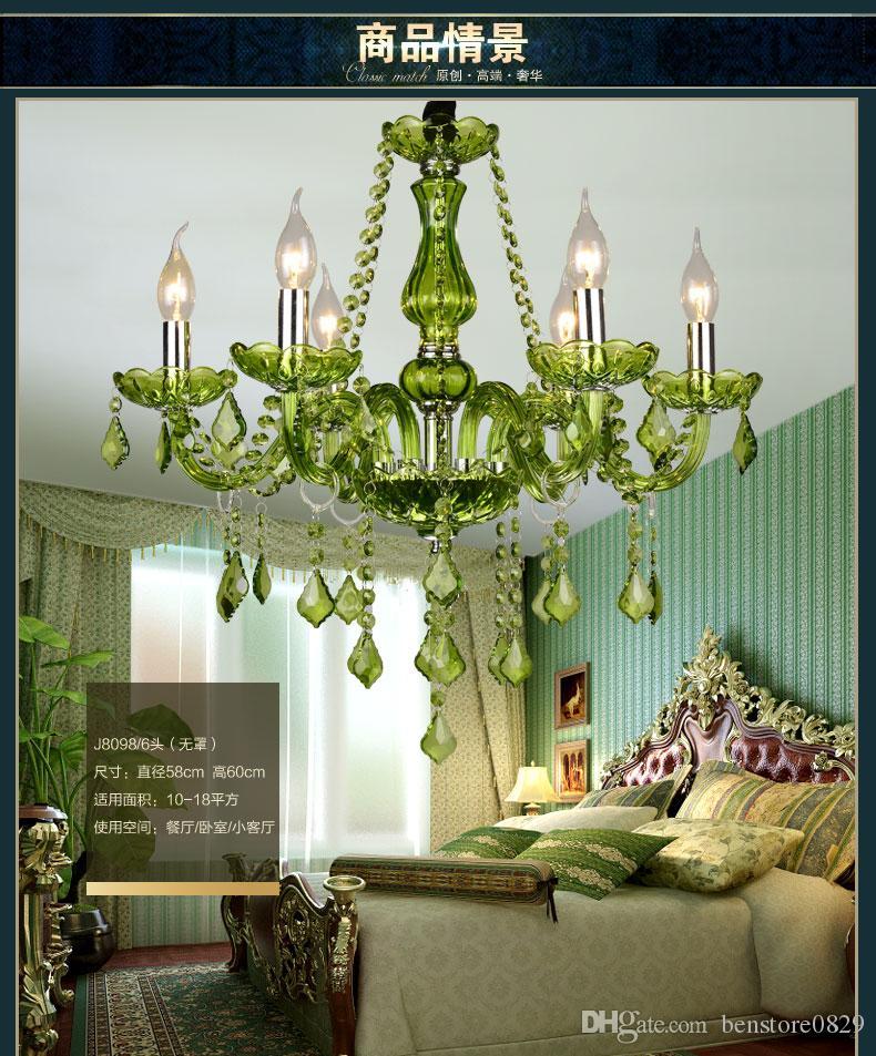 Modern Luxury Lustre en cristal Lampe de style européen Lustre en cristal Creative Candle Light pour Foyer Lobby Bar KTV Décoration