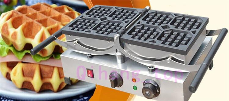 Qihang_top Stainless Steel Commercial Industrial Belgian Rotating Waffle Maker/Electric Rotating Waffle Making Machine For Sale