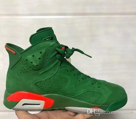 9d8c2874e783cc 2019 New 6 6s Gatorade Green Suede Men Basketball Shoes Like Mike 6s Mens  Sport Shoe Sneaker High Quality Basket Ball Shoes Barkley Shoes From  Retro4