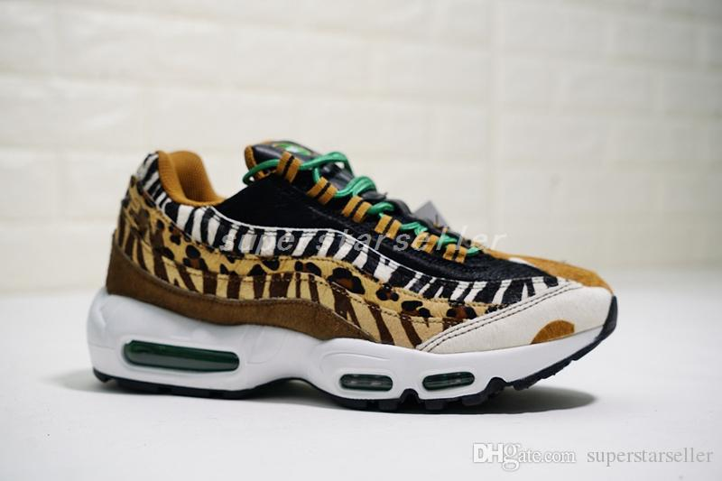 timeless design ab10c ba754 Compre Nike Air Max 95 Airmax 95 Zapatillas De Deporte Para Hombre 95 DLX  ATMOS Multi Color Animal Pack Designer Air Maxes Leopard, Zapatillas De  Running De ...