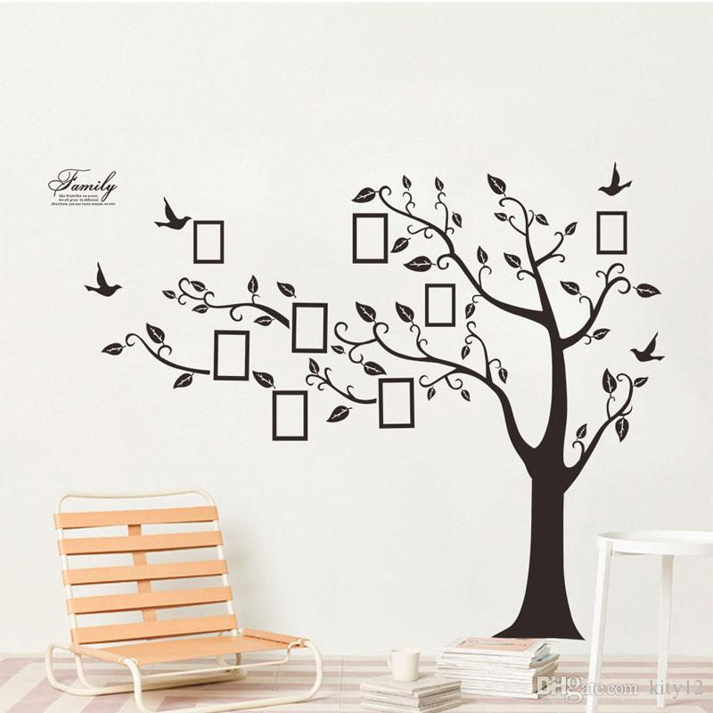 New Tree Photo Frame Wall Stickers DIY Art Decal Removeable Wallpaper Mural Sticker for Bedroom Living Room