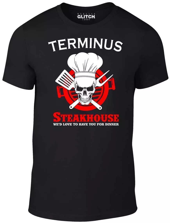 Men's Terminus Steakhouse T-Shirt - Funny Dead Roamers Walking Walkers  Zombie O Neck T-Shirts Male Low Price Steampunk