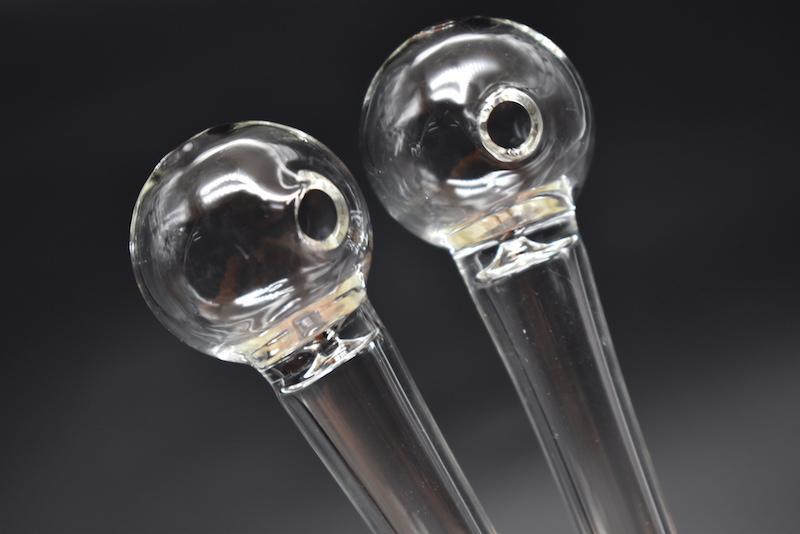 Tubo de vidrio Mango para fumar Tubos curvados Mini tubos para fumar Reciclador soplado a mano El mejor quemador de aceite Tubos de tabaco