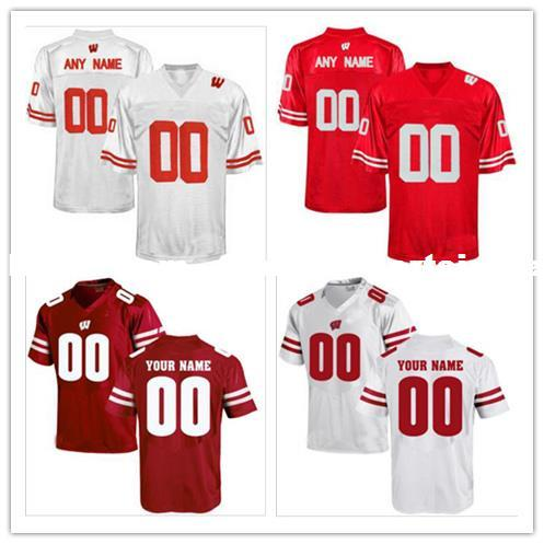 Cheap Custom Wisconsin Badgers Men s College Football Jersey ... cc2159cc8