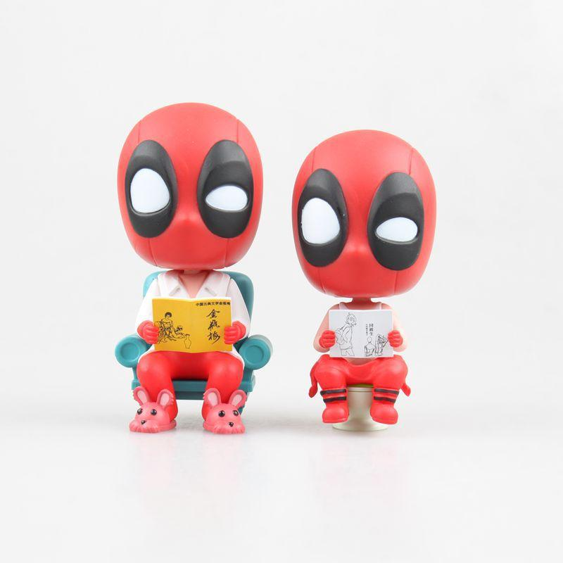 2019 Deadpool Q Version Of Dead Clothes, Small And Cheap Toilets
