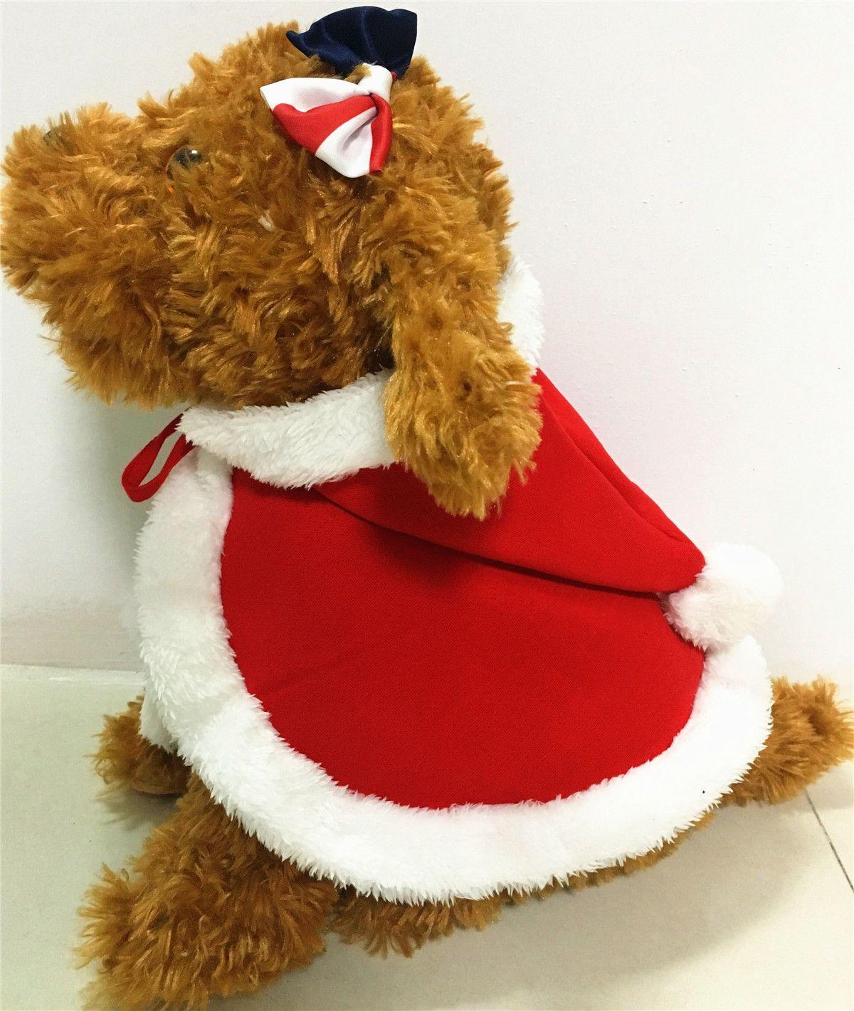 Großhandel Weihnachten Hund Hund Mit Kapuze Mantel Cape Mode Hund ...