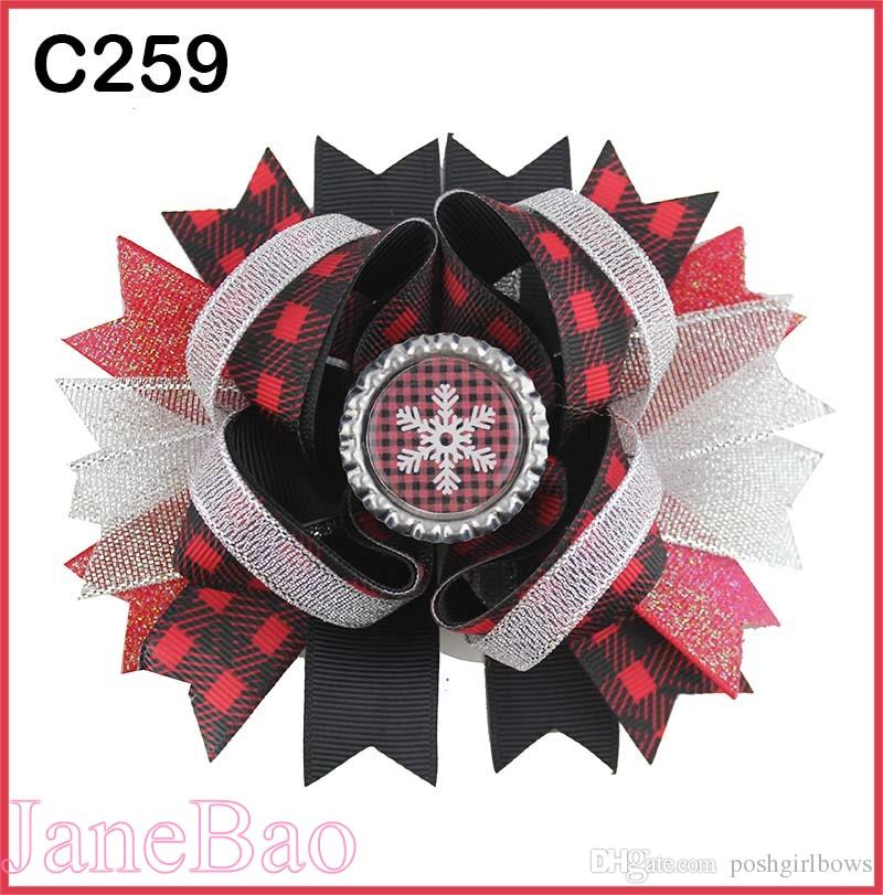 bb8f703aa779c Christmas Hair Bows Candy Cane Bow Santa Hair Clip Reindeer Holiday Merry  Christmas Hair Bow B Girl Baby Hair Accessories Female Hair Accessories  From ...