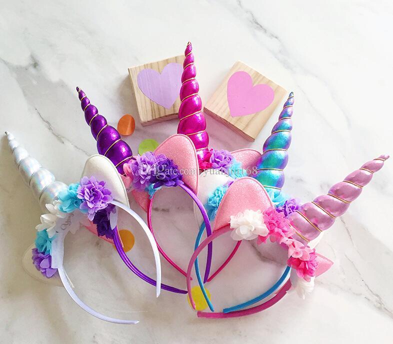 New Unicorn Headband Children S Unicorn Party Head Buckle Diy Party