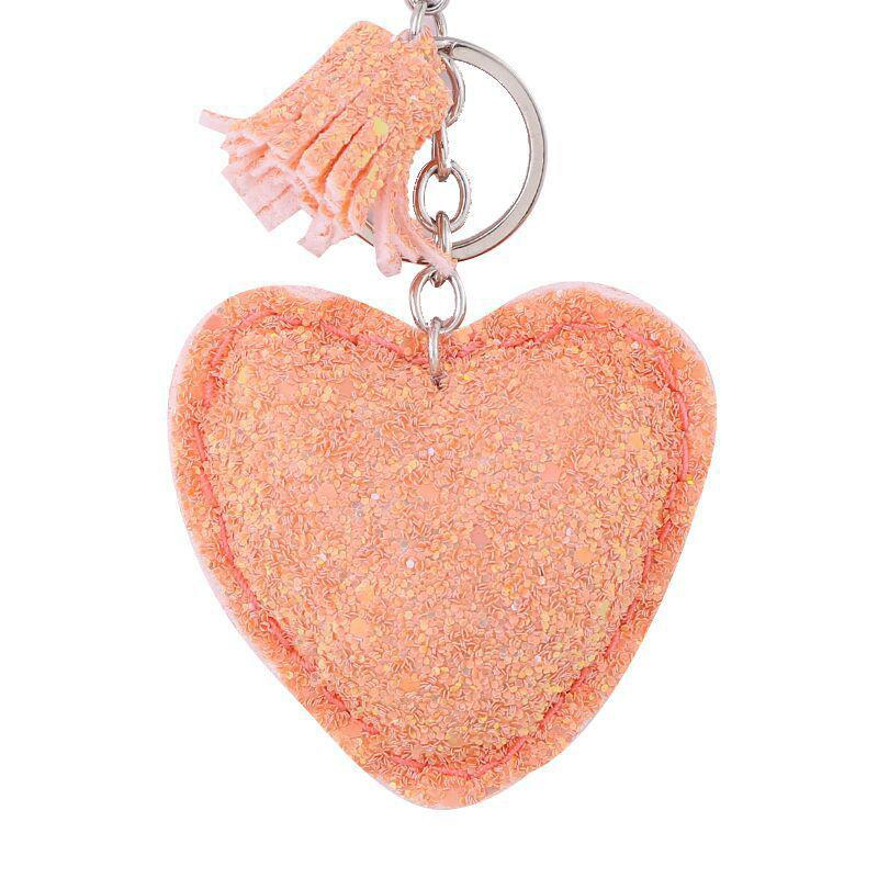RE Cute Pendant Keychain Key Chain Heart Glitter Sequins Key Ring Gifts  Women Llavero Charms Car Bag Accessories A3130 Remove Before Flight Keychain  Self ... b4392d6c34