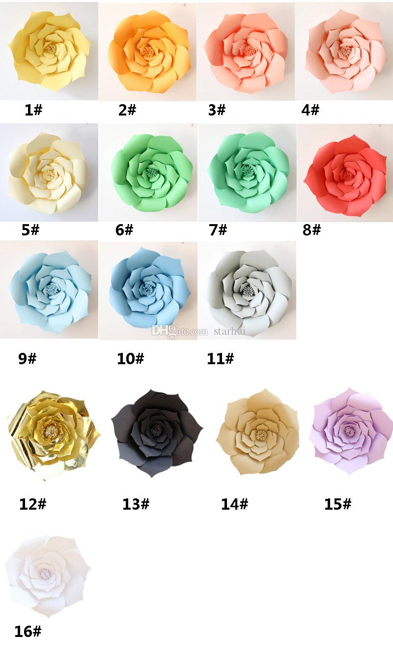 20cm Wedding Decoration Paper Flowers DIY Birthday Party Artificial Flower Home Baby Room Backdrop Ornament Supplies WX9-607