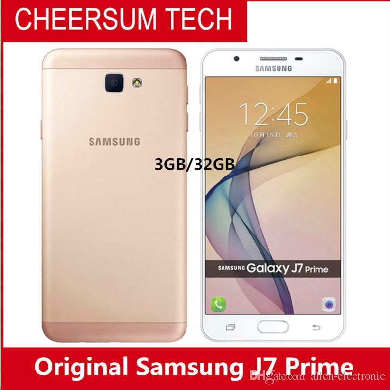 2018 hot Original Samsung Galaxy J7 Prime G610YD Mobile Phone 5 5 1920X1080  Octa core 3GB 32GB ROM LTE 13 0MP Dual SIM Android Phone