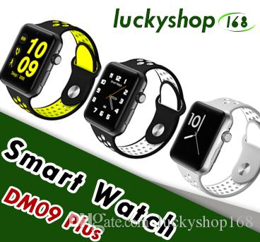 2018 Goophone Watch DM09 Plus Bluetooth Smart Watch Pedometer Sleep Monitor  Smartwatch Sedentary Remote Touch Screen clock for IOS Android
