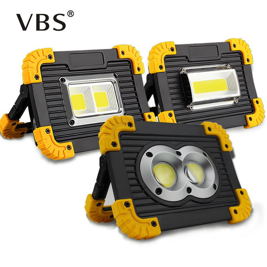 Portable Led Spotlight Outdoor Garden Lamp DC5V Outdoor Lighting Led Flood Light 20W USB Rechargeable COB Work Light IP44