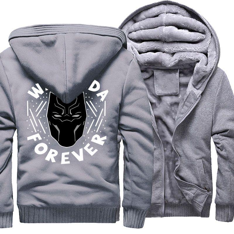 2019 Men S Hoodies Black Panther Hip Hop Jacket 2018 Autumn Winter