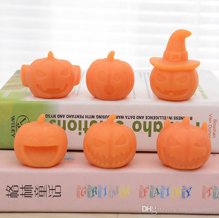 Vent Toys Halloween Gifts Pumpkin Dumplings Moe Pinch Le Whole Toy Cute Animation Around Office Toys Stress Relievers Stress Relief Toys For The Office From