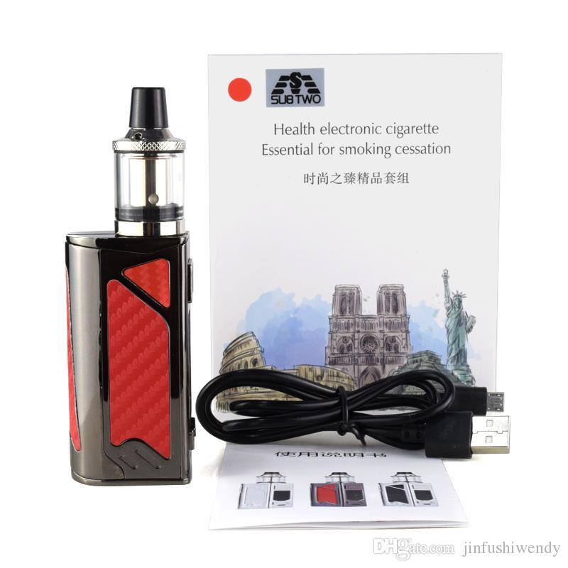 HT 100w box mod electronic cigarette 2200mah build-in battery with 3.5ml tank LED Screen Huge Vapor e cigarette vape pen Kit