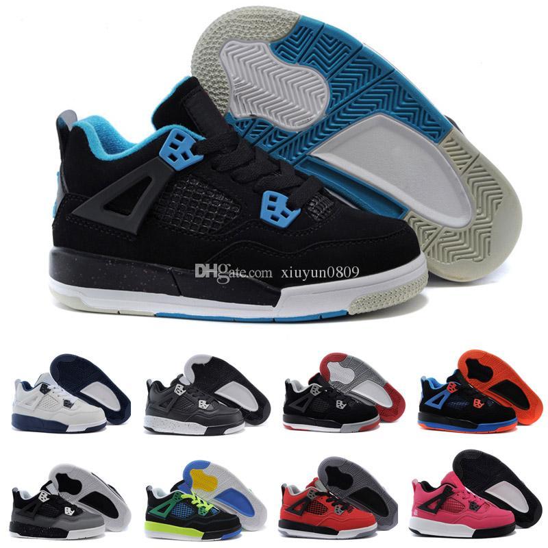 competitive price 7535b d7334 Großhandel 2018 Nike Air Jordan 4 13 Retro Kinder 4 4s Bred TORO BRAVO  Feuer Rot Schwarz Rot Männer Frauen Basketball Schuhe Sneakers Top Qualität  Von ...