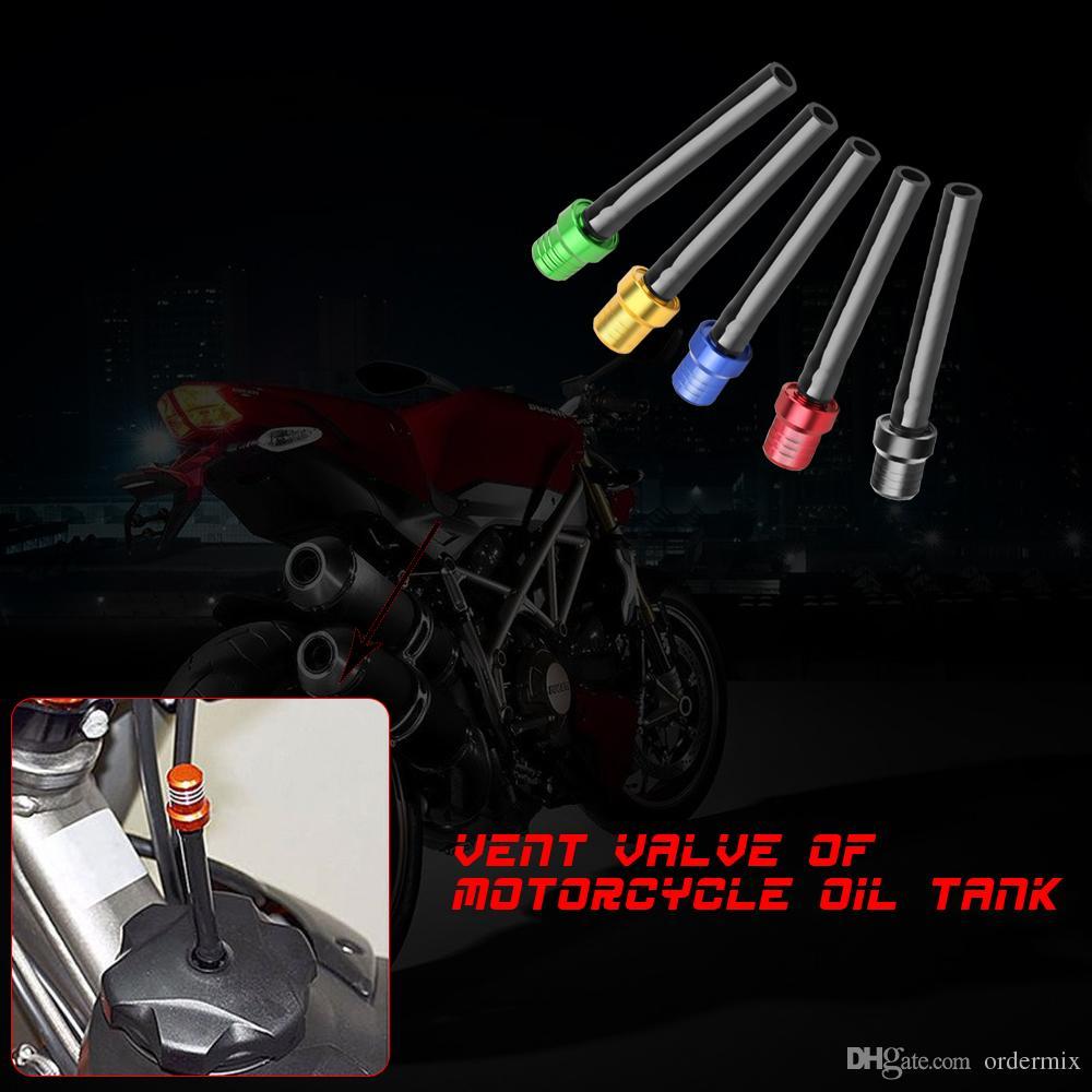 6 Couleur En Aluminium Moto Essence Dirt Bike Carburant Réservoir À Essence Bouchon Reniflard Tuyau Tuyau ATV 2 Voies Soupape Évent Reniflard Tuyau