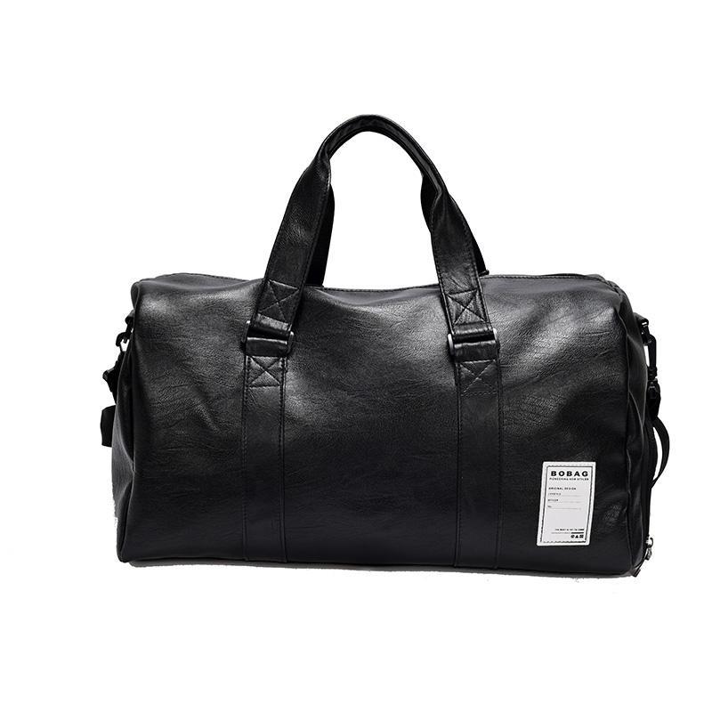 fdd40a2f79a0 Women Men PU Leather Sport Gym Bag Travel Duffle Bags Waterproof ...