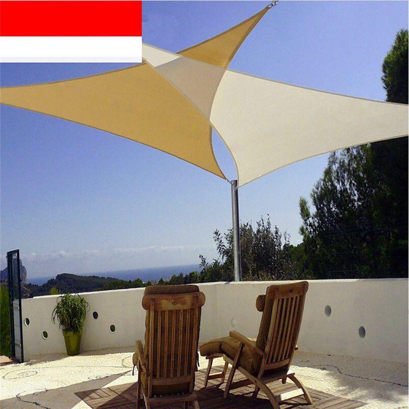 Outdoor Courtyard Swimming Pool Anti-UV Waterproof es Sun Shade Sail 3m X  3m X3m Shade Net Awning Gazebo Canopy Shading